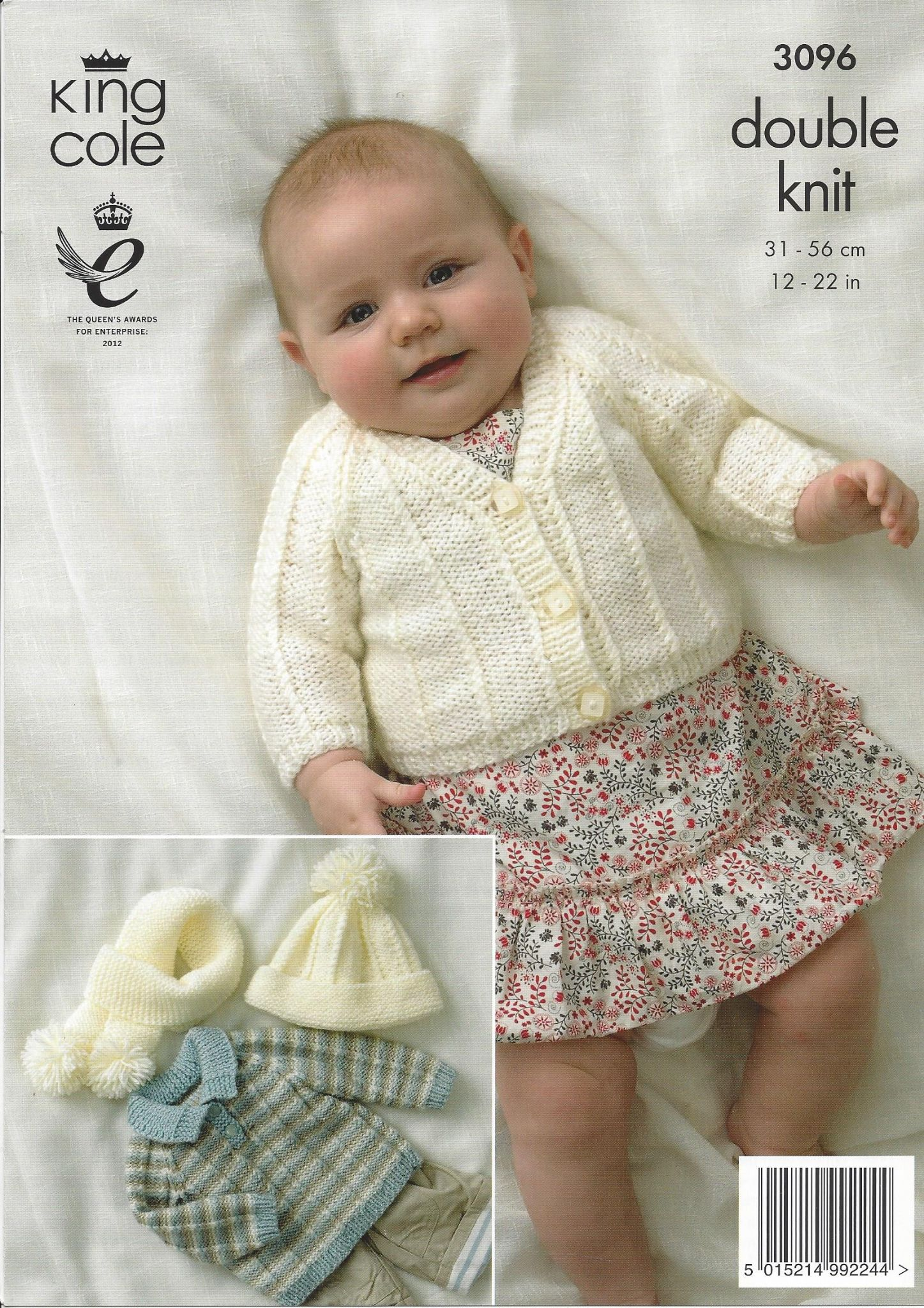 68d0e238dcd78d King Cole Baby DK Knitting Pattern - 3096 Cardigan Sweater   Accessories